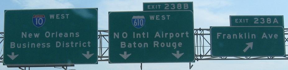 Louisiana Roads - I-10, New Orleans