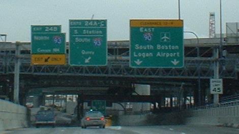South Bay Interchange - Boston, MA (I-90 East to I-93 South) - YouTube
