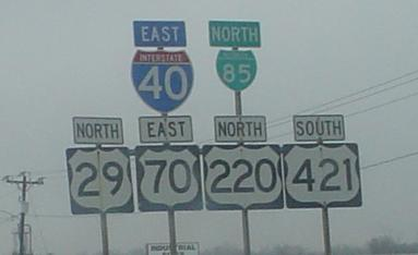 North Carolina Roads - I-40/Bus  I-85/US 421