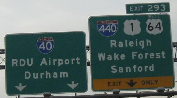 North Carolina Roads - I-40/US 64, Raleigh