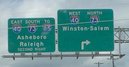 North Carolina Roads - I-73/I-840